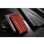 CaseMe New Fashion Crazy Horse PU Leather Wallet Card Slot Cover Flip Case with Stand for LG G4
