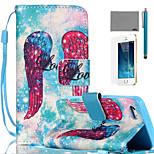 lexy® ali rosso modello pu custodia in pelle corpo pieno, con la protezione dello schermo e lo stilo per iPhone 5 / 5s
