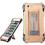 Sport Waterproof Shockproof Aluminum Alloy Back Case for IPHONE 6/ 6S - Gold+ Black