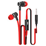Langsdom JM21 Fashion Earphone 10 Colors Microphone Heavy Bass Headphone with  Wired Control Noodles Wire
