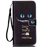 Black Cat Pattern high Quality Wallet Hand Rope Section Phone Case for iPhone 6/6S