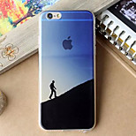 Climber Pattern TPU Material Soft Phone Case for iPhone 6/6S