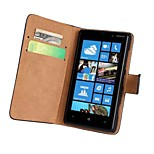 Solid color Light Surface Pattern Hard Case with Magnetic Snap and Card Slot for Nokia Lumia 820