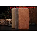 Simple and Noble Design PU+PC Leather Full Body Case with Kickstand and Retro Style for Iphone6 Plus