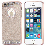 Top Fashion Glitter Powder Rhinestone Bling with Hole Hard Back Case for iPhone 6 Plus/6S Plus(Assored Colors)