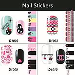 8pcs - Autocollants 3D pour ongles / Bijoux pour ongles - Doigt - en Adorable - 145*75mm