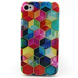 Cube Pattern TPU Material Phone Case for iPhone 4/4S