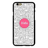 Hello Pattern PC Hard Case for iPhone 6/6S