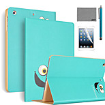 LEXY® Big Eyes Pattern PU Leather Flip Stand Case with Screen Protector and Stylus for iPad Mini 4
