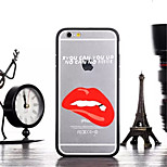 Lips Pattern TPU and PC Material Combo Phone Case for iPhone 6/6S
