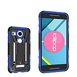 PC Drop Resistance Stent Silicone Case with Stand for LG Nexus 5X Google Nexus 8 Angler H79 Assorted Color