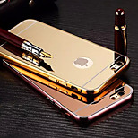 Plating Mirror Back with Metal Frame Phone Case for iPhone 6/ 6S (Assorted Colors)