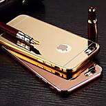 chapeamento espelho para trás com armação de metal telefone caso para iphone 6 / 6s (cores sortidas)