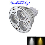 YouOKLight® MR16 3W Dimmable LED Spotlight Warm White/Cold White Light 3000/6000k 300lm - Silvery Grey (DC 12V)