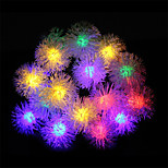 LED Decorative String Lights Solar Maomao Ball String Lights Waterproof Outdoor Christmas Lights String Garden Lights