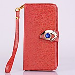 High Quality Fashion Blue Eagle Eyes Pattern PU Leather Cover for iPhone 5/5S/5C Plus (Assorted Colors)