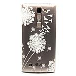 Dandelion Pattern TPU Relief Back Cover Case for  LG Spirit H440N/H422