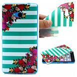 Striped Flower Words Phrase Pattern 0.6mm Ultra-Thin Soft Case for TPU Lumia 640