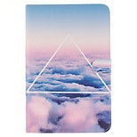 The Sky Cloud Pattern PU Leather Full Body Case with Stand and Card Slot for iPad mini 4