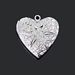 Fashion Heart Shape Silver Plated 27mm DIY Pendant(Bronze ,Silver)