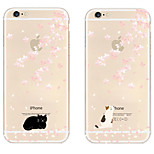 Cherry Blossoms Pattern TPU Soft Case for iPhone 6/6S
