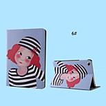 Cartoon-Mädchen PU-Leder mit Standplatz-intelligente Kasten für ipad mini 1/2/3 (sortierte corlors)
