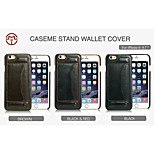CaseMe New Fashion Crazy Horse PU Leather Card Slot Support Back Cover Case with Stand for iPhone 6/6S