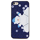 Christmas Style Cartoon Snowman Pattern PC Hard Back Cover for iPhone 5/5S