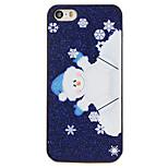 Navidad estilo muñeco de nieve de dibujos animados patrón de pc contraportada dura para el iphone 5 / 5s