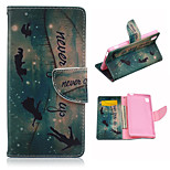 The Child Pattern PU Leather Case Cover with Stand and Card Holder for Sony Xperia M4
