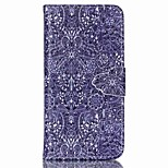 flor pintada retro caixa do telefone pu para iphone6 ​​/ 6s