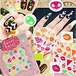 12pcs Fluorescent Harajuku Nail Stickers