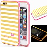 2-in-1 Yellow White Lattice Pattern TPU Back Cover with PC Bumper Shockproof Soft Case for iPhone 6/6S