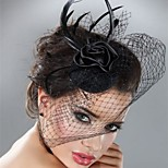 Rose Flower Black Lace Fascinators Hair Jewelry