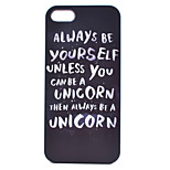 Unicorn Painting Pattern PC Case for iPhone 5/5S