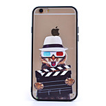 Glasses Cat TPU and PC Combo Phone Shell  for iPhone 6/ 6S