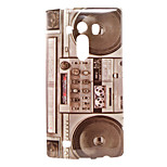 Retro Radio Pattern TPU Material Soft Back Cover for LG G4