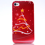 Christmas Tree UV Varnish PC Material Christmas Phone Case for iPhone 4 /4S