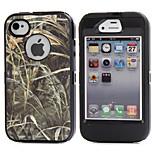 3in1 ibrido camouflage mimetica albero stampa contro lo sporco difficile incorporato caso protezione dello schermo per il iphone 4 4s