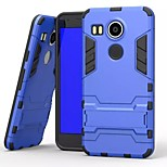 New Iron Man Style Plastic and TPU 2 in 1 Case Cover with Stand for LG Nexus 5 2015 (Assorted Colors)