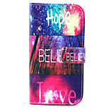 Hope love Pattern PU Leather Case with Money Holder Card Slot for Wiko Lenny