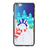 Christmas Style Fat Snowman Pattern PC Hard Back Cover for iPhone 6