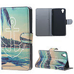 Anchor and Trees PU Leather Wallet Case for Alcatel OneTouch Idol 3 (4.7)