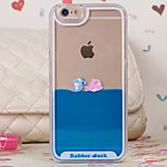 Three-Dimensional Dolphins Pattern Transparent PC Material Phone Case for iPhone 6 /6S