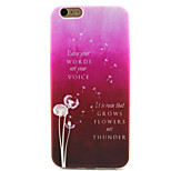 Love Dandelion Painting Pattern TPU Soft Case for iPhone 6/6S