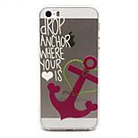Anchors Pattern TPU Relief Back Cover Case for iPhone 5/iPhone 5S