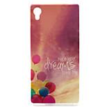 Dream Balloon Painting Pattern TPU Soft Case for Sony Xperia M4 Aqua
