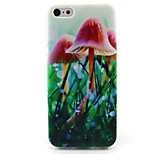 Mushroom Painting Pattern TPU Soft Case for iPhone 5C