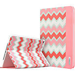 ESR Beat Series Two-fold Folio Smart Case with Auto Wake Up/Sleep Function for iPad Air 2 - Pink Chevron