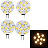 4 stuks YouOKLight G4 4 W 9 SMD 5050 380 LM Warm wit G45 Decoratief LED-raillampen 30/09 V